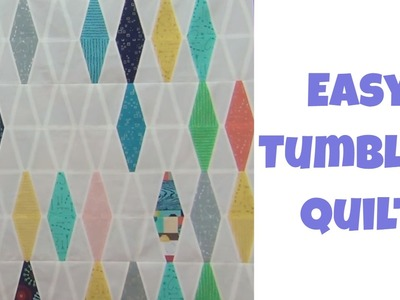 How to Make an Easy Tumbler Quilt - Beginner Quilt Pattern with Leah Day