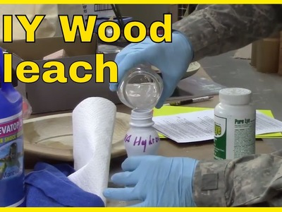 How to Make and Use Wood Bleach for Woodturning