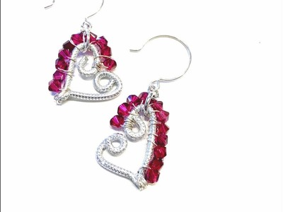 How To Make Beaded Aluminum Wire Heart Earrings
