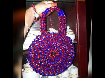 How to make beaded round bag