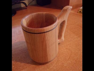 How to make beer mug on a lathe. Material beech