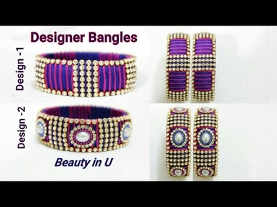 How to make Designer Bridal Bangles at Home | Silk Thread Bridal Bangles| Tutorial