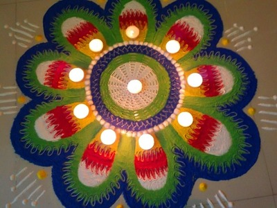 HOW TO MAKE INNOVATIVE RANGOLI DESIGN