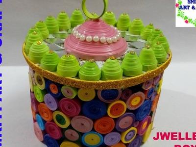 How to Make jewellry box | Handmade Basket | DIY | Multi Storage Box | Quilling Box