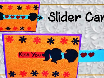 How To Make Kissing Couple Slider Card  | Valentine Special