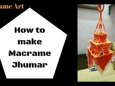 How to make macrame jhumar |Design 2| easy making tutorial