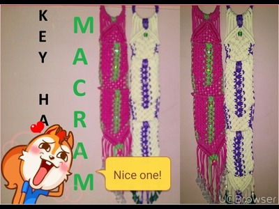 How to make mobile macrame at home