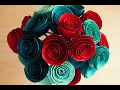 How to make paper flower rose very easy step by step. paper craft work at home .
