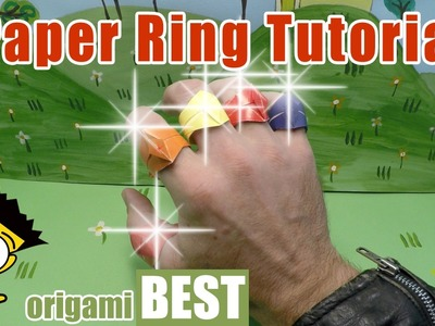 How To Make Paper Ring - Origami BEST #origami