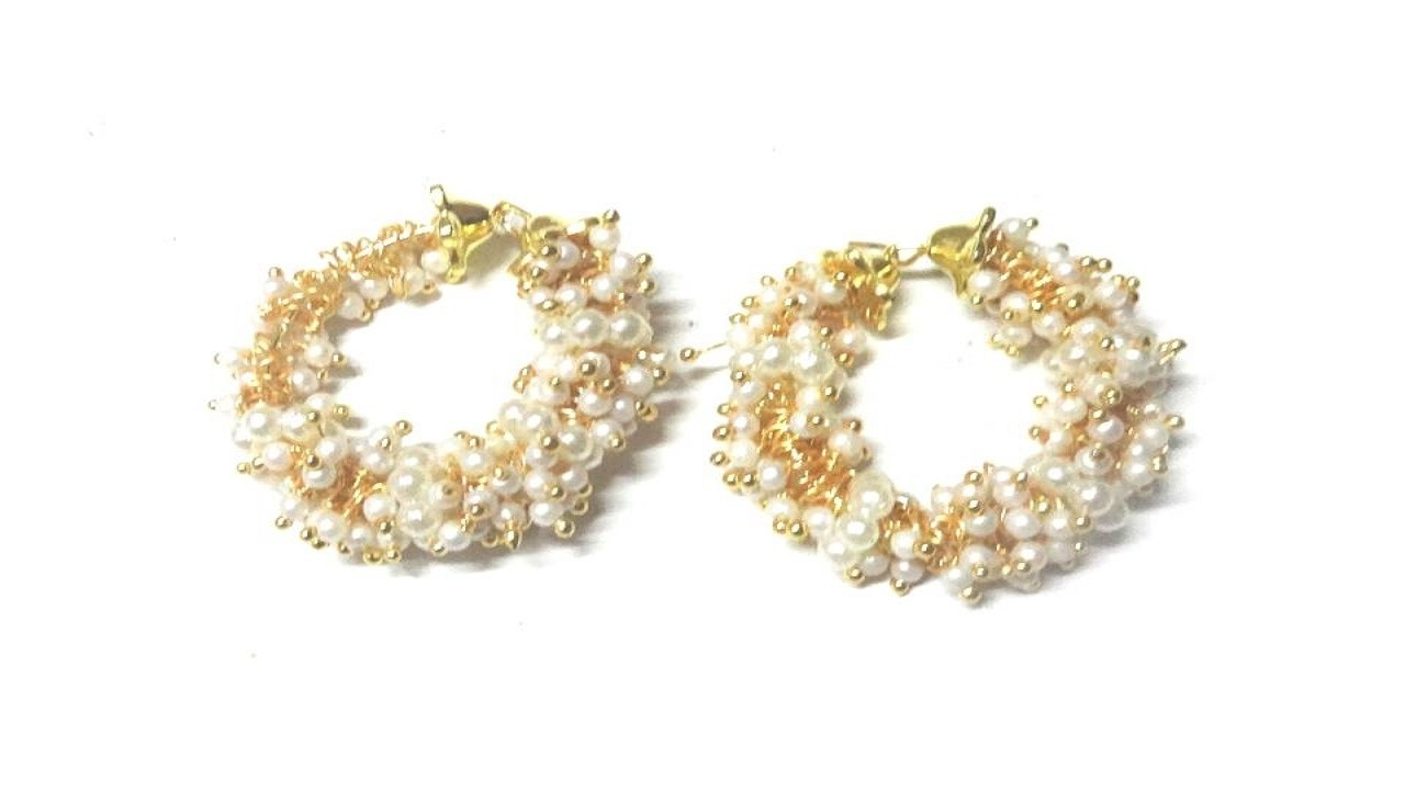 How to make Pearl Loreal Designer Earrings
