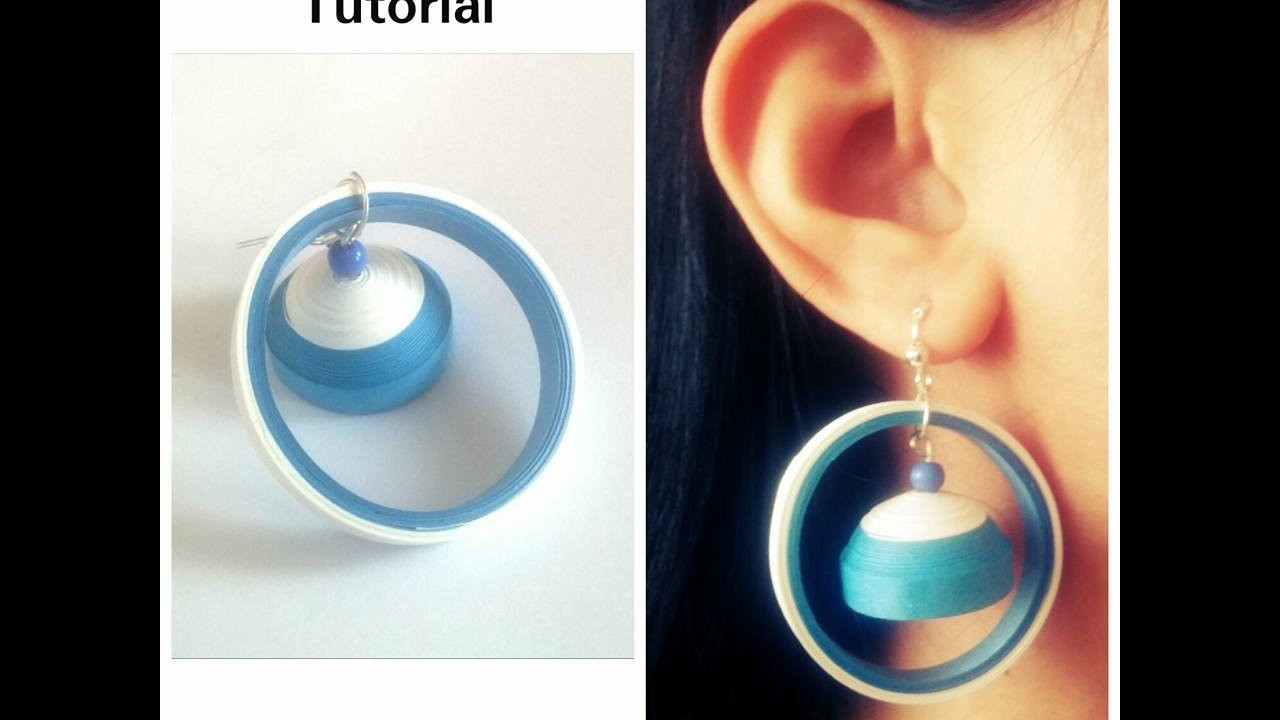 How To Make Quilling Earring Tutorial.Design 41