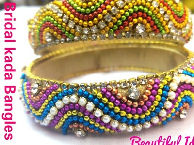 How to Make Silk Thread Bridal Bangles at Home.Easy and Simple method.