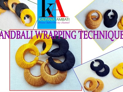 How to make silk thread chandbali jhumkas wrapping techniques simple and easy