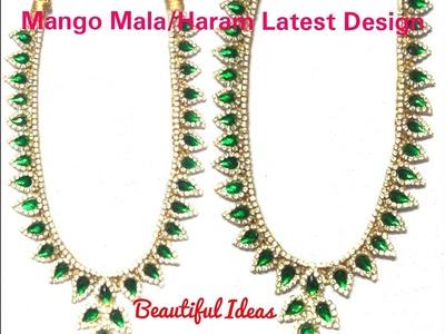 How to Make Silk Thread  Mango Mala.Haram Necklace Latest Design Jewellery.  Bridal Mango Mala .