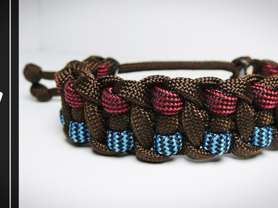 How to make The Fire and Ice Paracord Survival Bracelet [WITHOUT BUCKLE] [MAD MAX] [Tutorial]