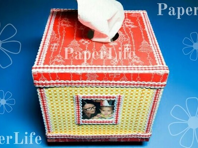 How to make Tissue Holder (Box) from paper, easy and beautiful HD tutorial