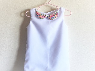 How to sew a simple little girl shift dress with Peter pan collar