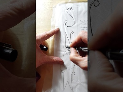 How to Stitch letters on your projects