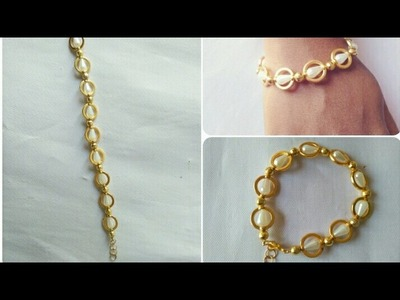 Simple And Easy Pearls Bracelet. DIY. Home Made Tutorial