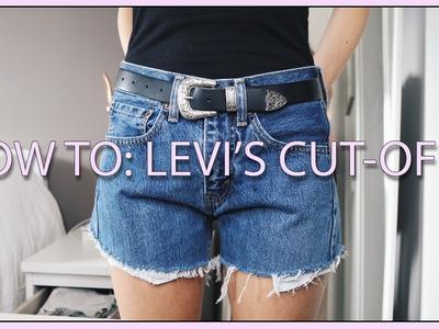 Thrifted: How I Make My Levi's Shorts!   Alexa Jade Warren