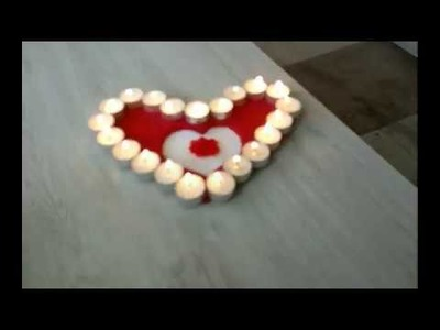 Tutorial. *How to make a heart candle*