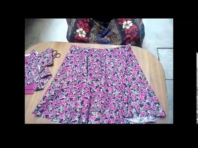 Umbrella Skirt Cutting | DAY 10 Class Part - 1 | How To Cut U- Skirt | Cutting U - SKIRT
