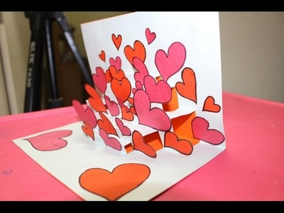 Valentine's day pop up gift card  - How to make greeting card