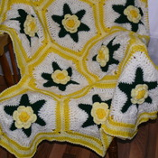 Yellow Rose of Texas Afghan