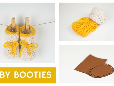 Crochet Baby Shoes With a Leather Sole    Croby Patterns