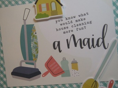 """Domestic Bliss - Simple Stories with Short """"How-to"""" for page construction"""
