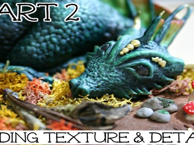 Dragon Sculpture Time Lapse | Part 2: Adding Texture & Details | How To Sculpt A Dragon
