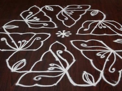 Easy rangoli designs freehand || easy rangoli designs freehand || how to draw kolam easy