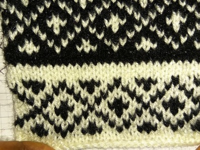 Easy Two Color Graph Knitting Pattern| Hindi