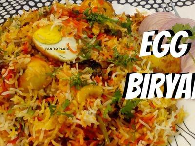 Egg recipe - Egg Biryani - How to make Egg biryani - Egg biryani recipe - Anda hyderabadi biryani