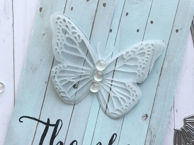 Front-folding butterfly card how-to