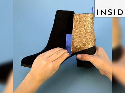 Here's how you can glitter up your boots