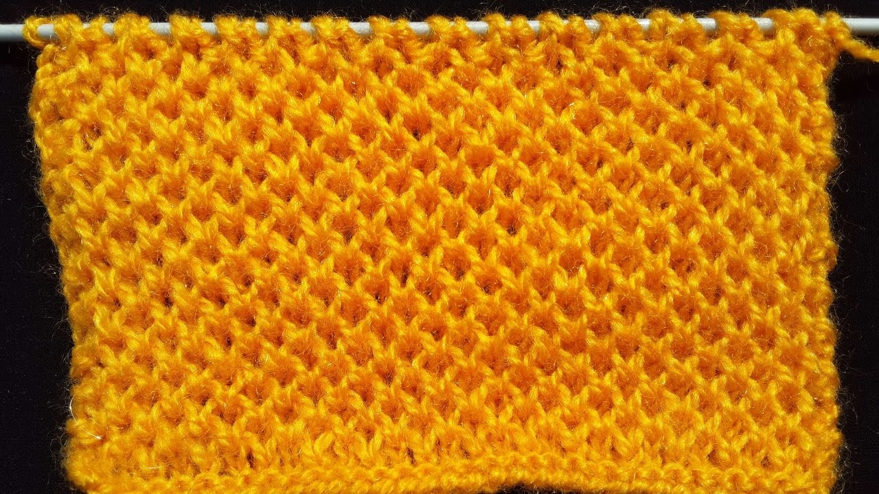 Honeycomb Stitch - Knitting Pattern | HINDI