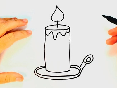 How to draw a Candle | Candle Easy Draw Tutorial