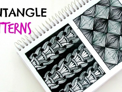How to draw. zentangle patterns. Step by Step.