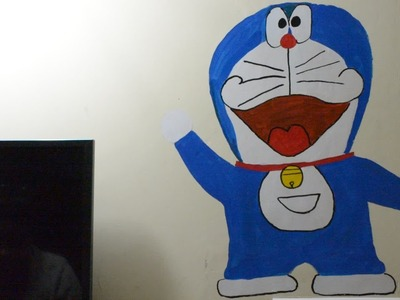 How to Drow Doremon on your Kids Room Wall.Wall paint ideas #3