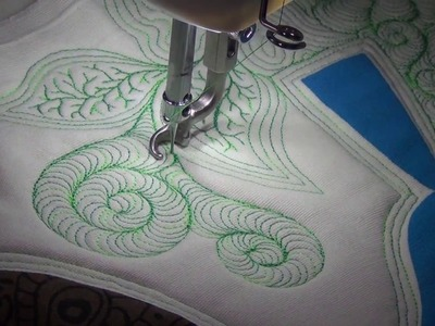 How to Free Motion Quilt Collage Style Quilting - Sit Down Quilting Sunday #5 with Leah Day