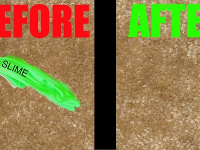 How to get Slime out of carpet and clothing