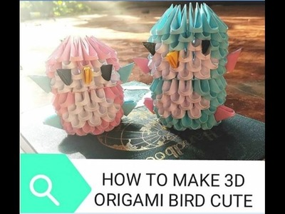 HOW TO MAKE 3D ORIGAMI BIRD. ORIGAMI ANIMAL