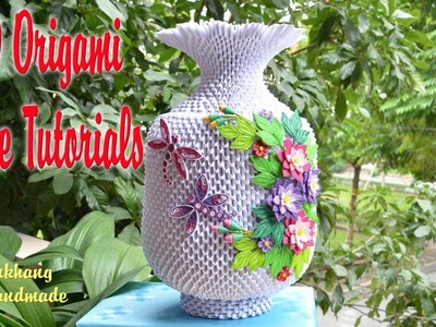 HOW TO MAKE 3D ORIGAMI VASE V3 PART 2 | DIY PAPER VASE V3 PART 2