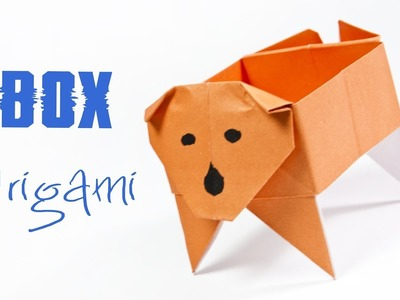 How To Make A Paper Box | Origami Dog Box