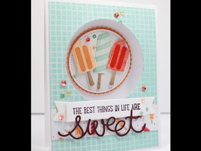 How to make a Peekaboo card with Stampin' Up! Cool Treats and Sweet Cupcake