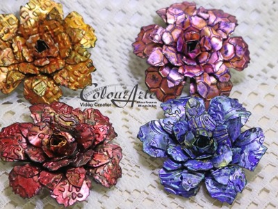 How to Make Aluminum Foil Flowers with ColourArte - Part 1