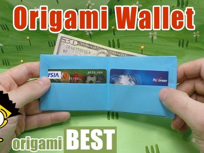 How to Make an Easy Paper Wallet - Origami BEST #origami