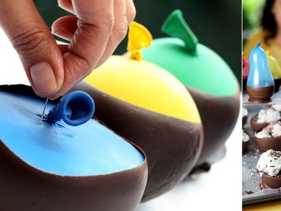 How to Make Chocolate Balloon Bowls. !