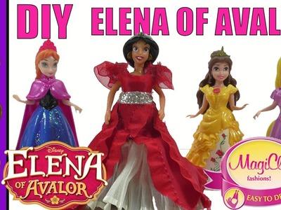 How To Make  Disney Princess Elena of Avalor Doll Magiclip And Gel-A-Peel Princess Dresses DIY